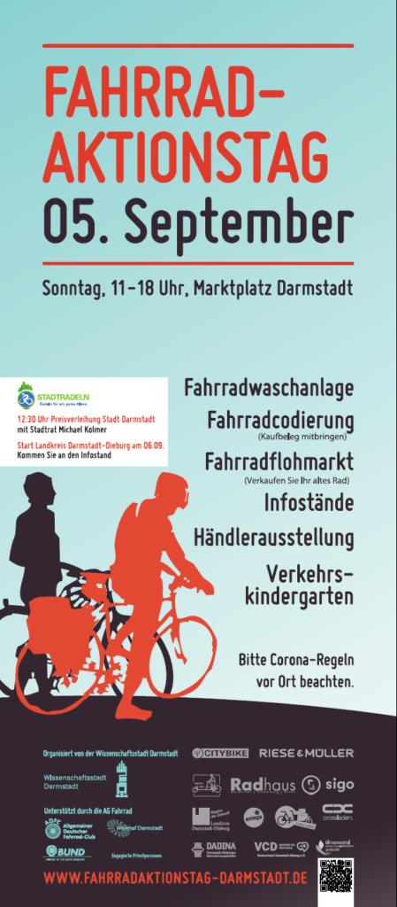 Plakat des Fahrradaktionstages 2021 am 5. September